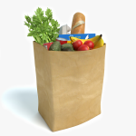 3d Bag of Groceries Model