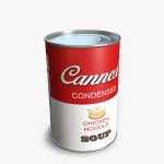 3d Can of Soup Model