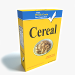 3d Box of Cereal Model