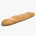 3d French Bread Model