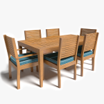 3d Patio Table and Chairs