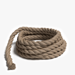 3d model of a pile of rope