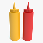 3d Mustard and Ketchup