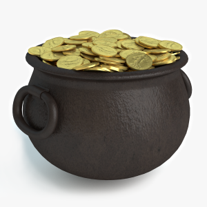 3d Pot of Gold