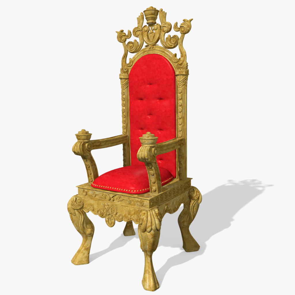 3d king s throne chair model toon life studios for Chaise 3d dessin