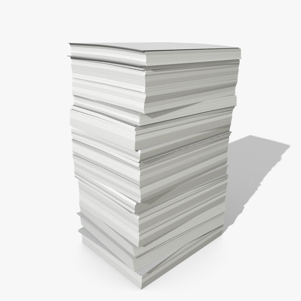3d Paper Stack Model
