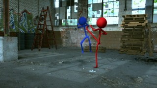 3d Stickman Blender Camera Tracking Test 2