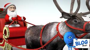 3d Santa and Reindeer Model