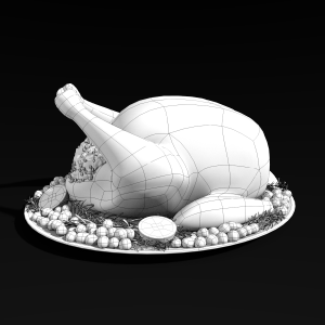 3d Thanksgiving Turkey Wireframe