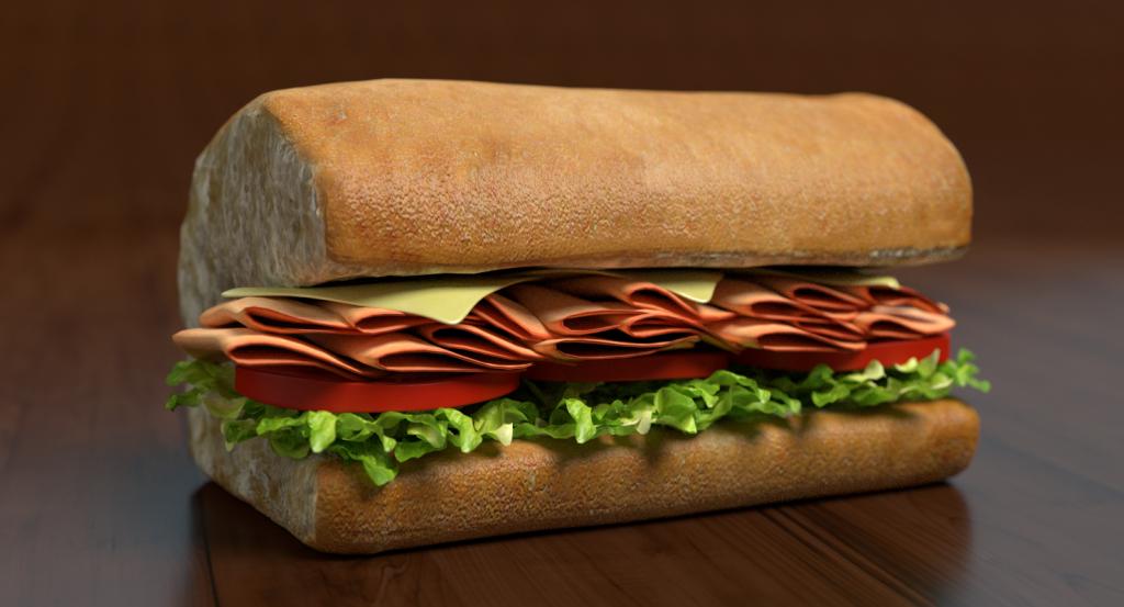 3d Half Sub Sandwich