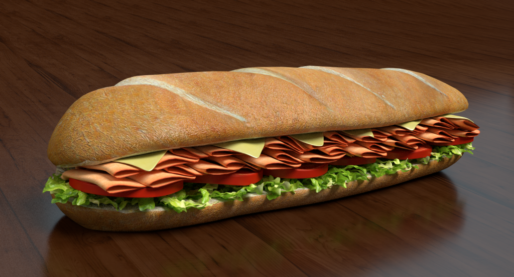 3d sub sandwich model toon life studios for 3d cuisine boe