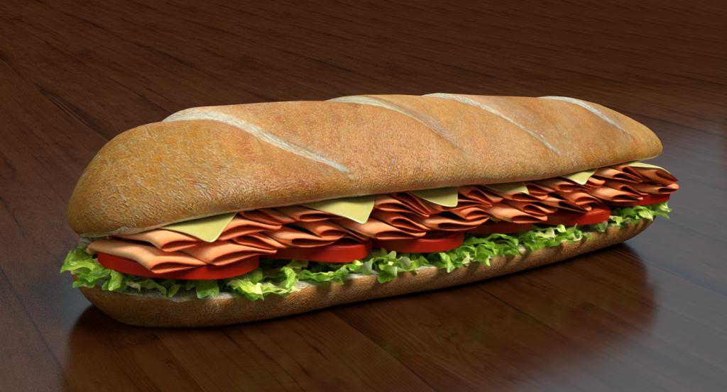 3d sub sandwich