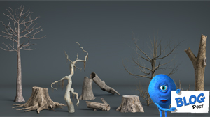 3d Dead Trees and Plants