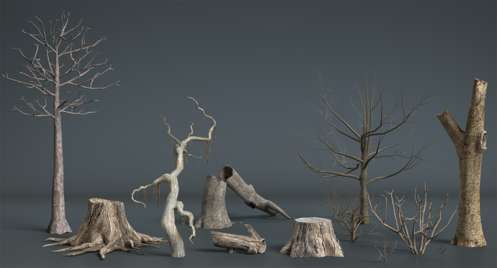3d Dead Plants and Trees