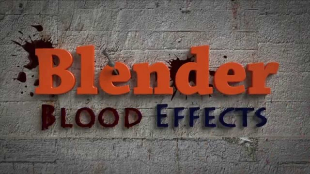 Blender Blood Effects