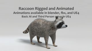 Animated Game Raccoon –  UE4 and Blender