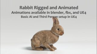 Animated Game Rabbit – UE4 and Blender