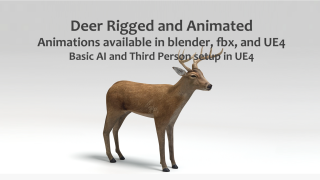 Animated Game Deer – UE4 and Blender